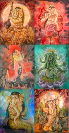 Ganeshani - Female Form Of Lord Ganesh Wow, this is beautiful