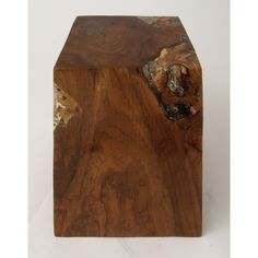 42016 Teak Wood Resin Foot Stool