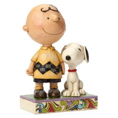 Peanuts Traditions Charlie Brown Life Better with Dog Statue - Enesco - Peanuts - Statues at Entertainment Earth