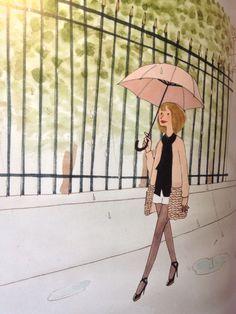 Spring time (Kanako illustration-Paris)