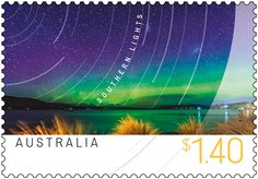 The Southern Lights, formally known as the Aurora Australis, are the Southern Hemisphere's counterpart to the Northern Lights (Aurora Borealis). Small Art, Stamp Collecting, Tasmania, Postage Stamps, Geography, Over The Years, Scenery, Southern, Ocean