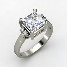 turret solitaire ring