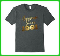 25dd729c1 Mens Awesome Since Legends Born In 1991 Birthday 26 Years Old Small Dark  Heather - Birthday shirts (*Partner-Link)