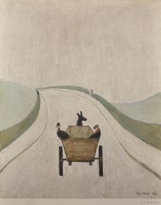 """Laurence Stephen Lowry (1887-1976) British. """"The Cart"""", Lithograph, with Print Makers Guild Stamp, Signed in Pencil. Est. £3,000 - £4,000."""