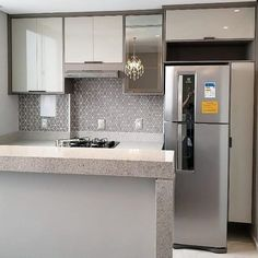 Open Plan Kitchen Living Room, Home Decor Kitchen, Kitchen Furniture, Modern Kitchen Design, Interior Design Kitchen, Cute Home Decor, Apartment Kitchen, Beautiful Kitchens, Home Decor Inspiration