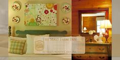Cousin Sarah • http://www.mastfarminn-retreats.com/lodging/cousin-sarah • Cousin Sarah is a Deluxe Farmhouse Room • Many guests' favorite room, Cousin Sarah is on the 3rd floor. The four-poster cherry king bed is a centerpiece of the room. A claw-foot soaking tub for two is tucked into an alcove of the room behind a moveable antique screen. • Sleeps 1-2