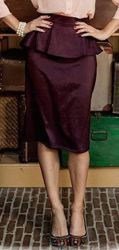 high waist peplum skirt http://rstyle.me/n/qxygspdpe