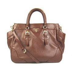 7d34dd0e527e ... sweden 142.00 new prada br1558 calf leather medium tote bags brown  official site 4e800 cb270