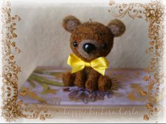 Yellow bow bear