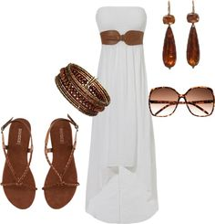 """Summer Maxi dress :)"" by sydney-kading on Polyvore"