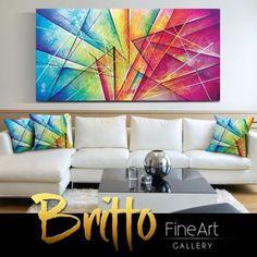 Quadros Abstratos Decorativos 140cm x 70cm QB069