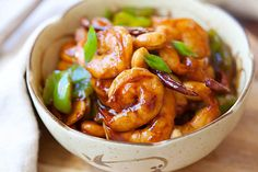 Kung Pao Shrimp - easy and delicious Kung Pao shrimp recipe, less than 20 mins, much better and healthier than Chinese takeout!! | rasamalaysia.com