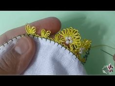Boncuklu iğne oyası modeli yapımı | needle and thread - YouTube