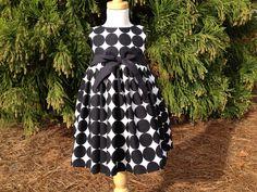 Girls Tea Length Polka Dot Dress