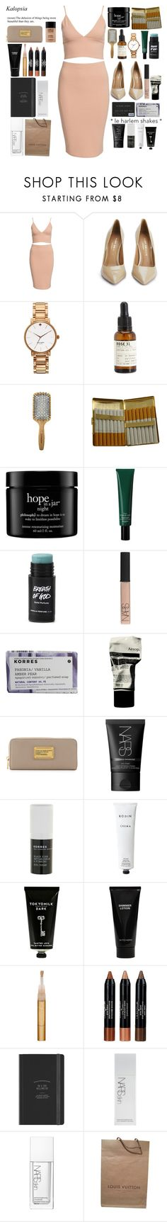"""Untitled #143"" by illestmonroe ❤ liked on Polyvore featuring Kurt Geiger, Kate Spade, Le Labo, Sephora Collection, KING, philosophy, Hermès, NARS Cosmetics, Korres and Aesop"
