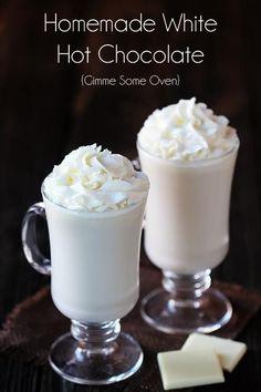 Homemade White Hot Chocolate | OMG I Love To Cook