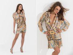 Looks wild print   Verão 2014-15 #snakeprint #wrapdress
