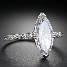 1.41 Carat Art Deco Marquise Diamond Engagement Ring - 10-1-4667 - Lang Antiques