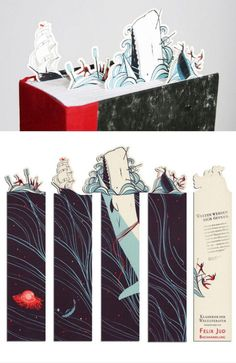 Classy Moby-Dick bookmarks.