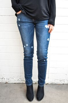 Ventura Boulevard Distressed Skinny Jean from GG Boutique Fort Collins