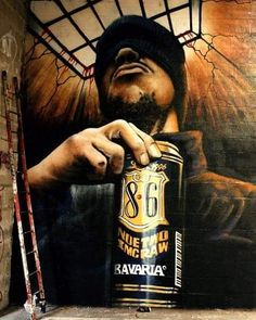 """NOE TWO _ """"Back in the day_ 1996 _ Graffiti _ Inside Mural _ Montreuil City, Paris, France Graffiti Art, Murals Street Art, 3d Street Art, Amazing Street Art, Street Art Graffiti, Street Artists, Amazing Art, Urban Graffiti, Awesome"""