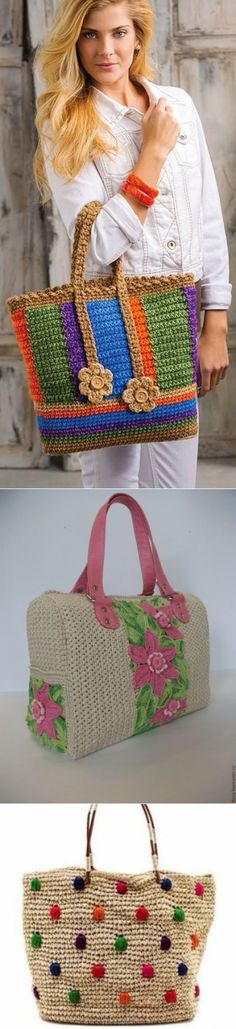 ВЯЗАНЫЕ СУМКИ. Crochet Handbags, Crochet Purses, Fridge Handle Covers, Crochet Baby, Knit Crochet, Bazaar Ideas, Crochet Shoes, Crochet Braids, Chrochet