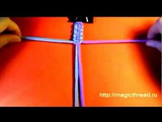A Snake Knot Viceroy (Paracord Bracelet) Paracord Belt, Paracord Bracelets, Friendship Bracelets Tutorial, Bracelet Tutorial, Monkey Fist Keychain, Snake Knot, Pom Pom Crafts, Macrame Art, Macrame Tutorial