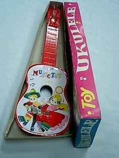 昭和レトロ 昔懐かし おもちゃ ブリキのウクレレ 未使用品 デッド:その他のおもちゃ>楽器おもちゃ - オークション モバオク