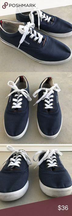 9f9ff0be68c5 Tommy Hilfiger Men Shoe Blue Fabric Upper Casual Tommy Hilfiger Men Shoe  Blue Fabric Upper Casual