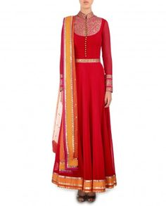 `#red #ANARKALI #desi #chic