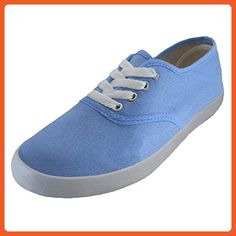 7c8d2e666474 Womens Canvas Shoes Lace up Sneakers 18 Colors Available Sky Blue - Women  Shoes