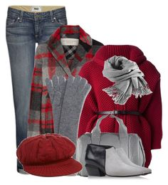 """""""I Bleed for Plaid"""" by tamekab ❤ liked on Polyvore featuring Paige Denim, Burberry, Dsquared2, Filippa K, Alexander Wang, Emporio Armani and Vic Matié"""