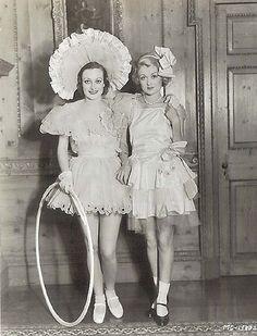 Joan Crawford & Constance Bennett.
