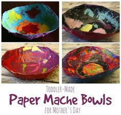 Paper Mache Bowls for Kids to Make for Mother's Day
