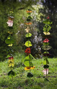 Leaf totems.