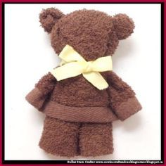 Dollar Store Crafter: How To Make A Cute Bear From A Towel