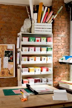 Office Inspiration: A Stationery Studio~image via Bright Bazaar