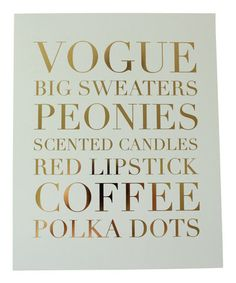 Gold Foil The Little Things Print by Charm & Gumption #zulily #zulilyfinds