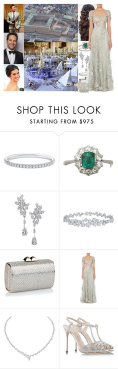 """Royal Crossover; Attending the pre-wedding dinner of Princess Charlotte of Sweden and Paul Glaser at the Royal Palace"" by maryofscotland ❤ liked on Polyvore featuring Harry Winston, Jimmy Choo, Adam Levine, Sergio Rossi, Sebastian Professional and royalwed2017"