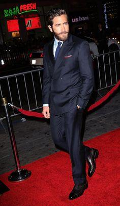 Jake Gyllenhaal #suits up in Ferragamo - Everest premiere in LA