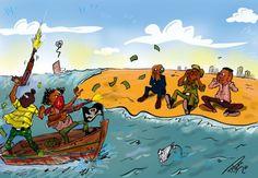 El próspero negocio de la piratería en el Golfo de Guinea / Ángeles Jurado + @el_pais   #westernafrica