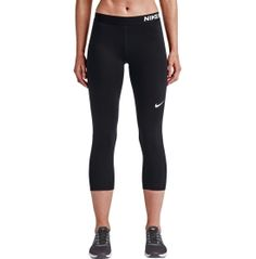 Power through your toughest workouts in the Nike® Women's Pro Cool Capris. These capris fit tight for ideal layering and a locked in feel. Dri-FIT® fabric works to keep you dry and comfortable, while the elastic waistband provides a snug and secure fit. Mesh lower-leg panels offer ventilation to keep you cool, and flat seams move smoothly against your skin. Stay focused and fit in the Pro Cool capris.