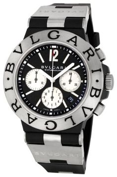 Bvlgari Men's BVL101395 Diagono Chronograph Watch Bvlgari. $3573.63. Scratch resistant sapphire crystal. Case diameter: 44 mm. Titanium case. Water-resistant to 99 feet (30 M). Automatic movement