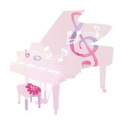 グランドピアノのシルエットに柔らかなカラーで色づけした音楽素材です。音符の舞うバイオリンと同じイメージで作りました。音楽系の素材としてお便りや発表会パンフレットなどにご利用いかがでしょうか。画像はJPEGと背景透過のPNGで投稿しています。