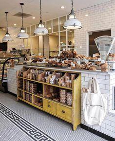 Tatte Bakery & ca Tatte Bakery & café Bakery Store, Bakery Display, Bakery Cafe, Cafe Display, Bakery Shop Design, Coffee Shop Design, Cafe Design, Bakery Shop Interior, Cafe Interior Vintage