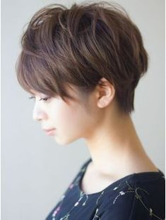 pixe/micro-bob combo with side under-cut Asian Short Hair, Short Hair Cuts, Short Hair Styles, Cute Hairstyles For Short Hair, Pixie Hairstyles, Haircuts, Hair Arrange, Hair Today, Hair Designs