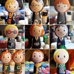 W Fine Porcelain China Diane Japan Luna Lovegood, Student Birthday Gifts, Student Birthdays, Wood Peg Dolls, Clothespin Dolls, Bellatrix, Harry Potter Characters Birthdays, Harry Potter Dolls, Wizard School