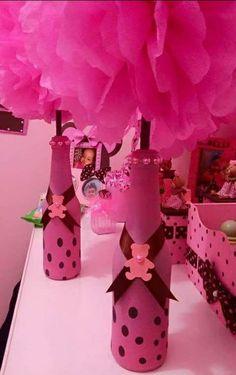 Botellas decoradas con globos
