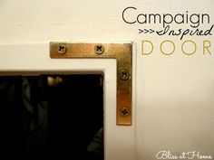 campaign style door hardware- love this idea!