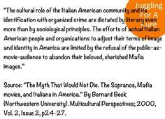 Italian Americans, Mafia Image